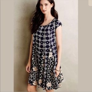 "Anthropologie Maeve ""Indiga"" Swing Dress"